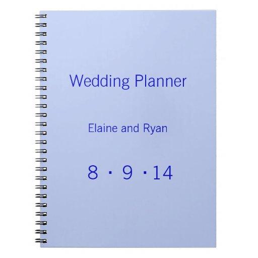 Monograma moderno - azul cuadernos