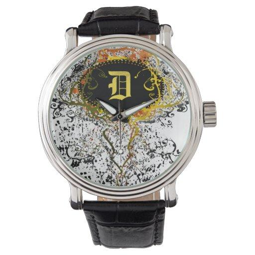 Monograma moderno D Reloj De Mano