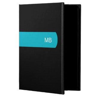 Monograma moderno de la caja del aire del iPad de
