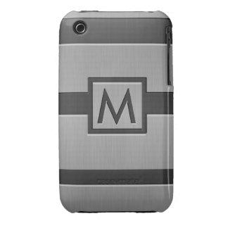 Monograma moderno del estilo iPhone 3 cárcasas