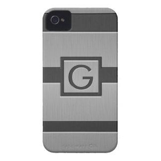 Monograma moderno del estilo iPhone 4 Case-Mate cárcasas