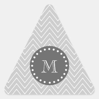 Monograma moderno del personalizado de Chevron del Pegatinas De Triangulo Personalizadas