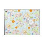 Monograma moderno del remolino de la hoja floral d iPad mini carcasas