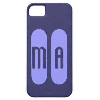 Monograma morado de plantilla personalizada de iPhone 5 carcasa