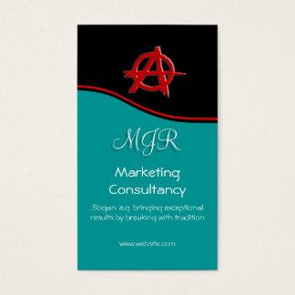 Monograma, muestra roja de la anarquía del tarjetas de visita