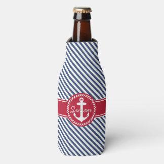 Monograma náutico de la marina de guerra y del enfriador de botellas