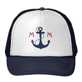Monograma náutico gorras