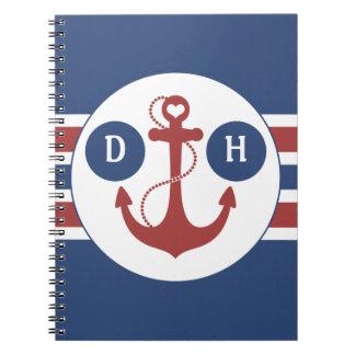 Monograma náutico cuaderno