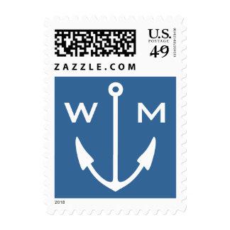 Monograma navegante náutico de los sellos del ancl