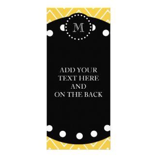 Monograma negro amarillo del modelo el de Chevro Lonas Publicitarias