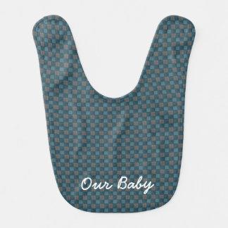 Monograma negro azul marino del babero del bebé