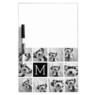 Monograma negro de encargo del collage de pizarras