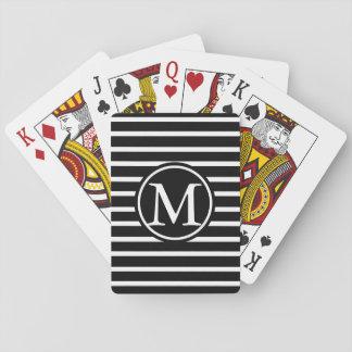 Monograma negro de la raya de H Barajas De Cartas