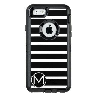 Monograma negro de la raya de H Funda Otterbox Para iPhone 6/6s
