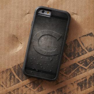 Monograma negro del metal C - caso de Iphone Funda Para iPhone 6 Tough Xtreme