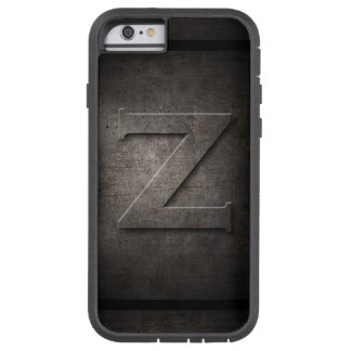 Monograma negro del metal Z - caso de Iphone Funda Para iPhone 6 Tough Xtreme