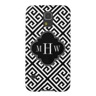 Monograma negro dominante griego 3I del MED Diag T Carcasa Galaxy S5