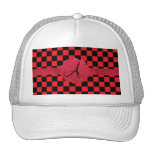 Monograma negro y rojo de los inspectores gorra