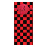 Monograma negro y rojo de los inspectores lonas personalizadas