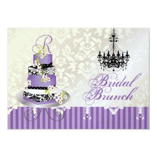 Monograma nupcial, pastel de bodas de PixDezines Invitación 12,7 X 17,8 Cm