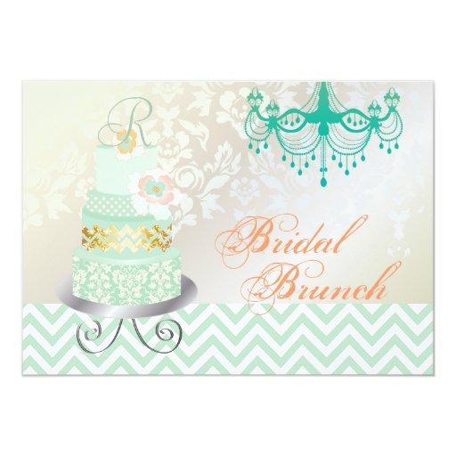 """Monograma nupcial, pastel de bodas de PixDezines Invitación 5"""" X 7"""""""