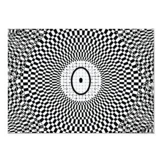 """Monograma O de la ilusión óptica Invitación 5"""" X 7"""""""