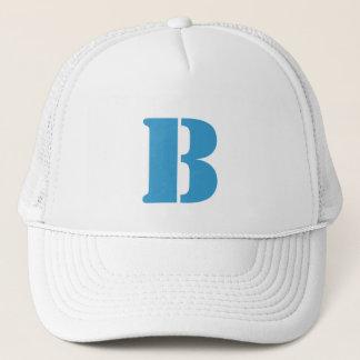 Monograma of order soles in white letter B Trucker Hat