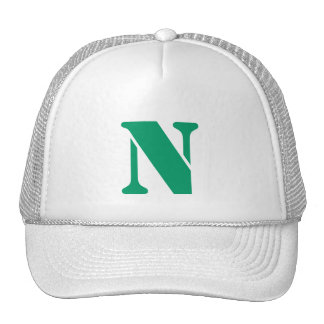 Monograma of order soles in white letter N Trucker Hat