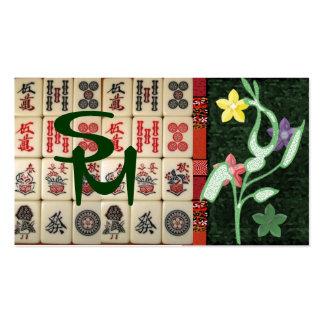 Monograma Oriental Tarjetas De Visita