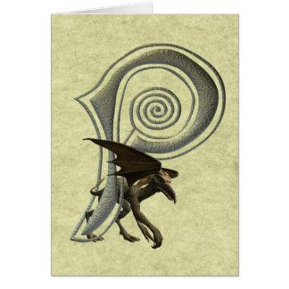 Monograma P de los Gargoyles Felicitaciones