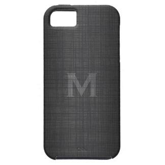 Monograma para los hombres con la mirada de lino funda para iPhone SE/5/5s
