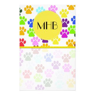 Monograma - patas del perro, Pata-impresiones - Papeleria De Diseño
