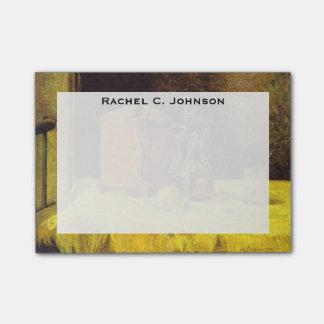 """Monograma Paul Gauguin, """"en la ventana"""" que pinta Notas Post-it®"""