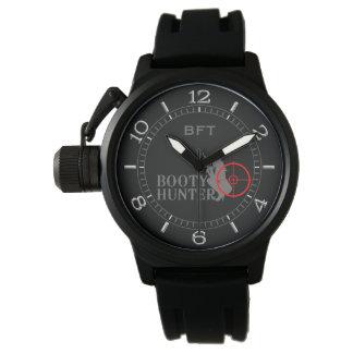 Monograma personalizado cazador con clase del reloj de mano