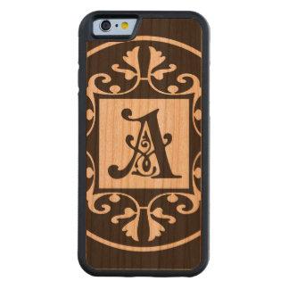 Monograma personalizado decorativo A Funda De iPhone 6 Bumper Cerezo
