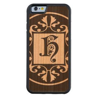 Monograma personalizado decorativo H Funda De iPhone 6 Bumper Cerezo