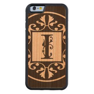 Monograma personalizado decorativo I Funda De iPhone 6 Bumper Cerezo