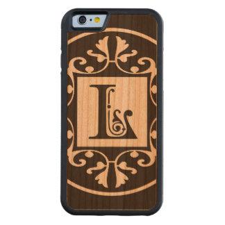 Monograma personalizado decorativo L Funda De iPhone 6 Bumper Cerezo