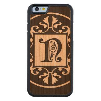 Monograma personalizado decorativo N Funda De iPhone 6 Bumper Cerezo