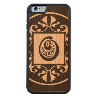 Monograma personalizado decorativo O Funda De iPhone 6 Bumper Cerezo
