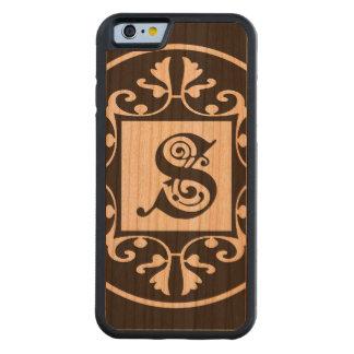 Monograma personalizado decorativo S Funda De iPhone 6 Bumper Cerezo
