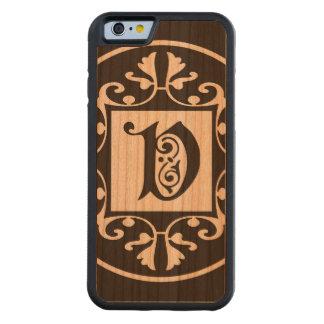 Monograma personalizado decorativo V Funda De iPhone 6 Bumper Cerezo