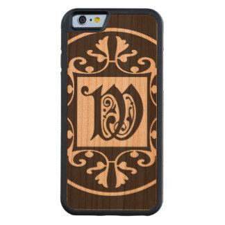 Monograma personalizado decorativo W Funda De iPhone 6 Bumper Cerezo