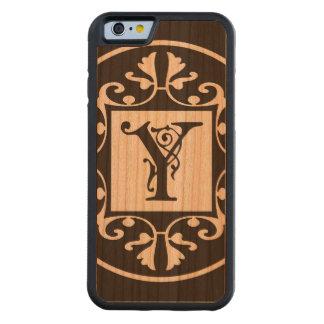 Monograma personalizado decorativo Y Funda De iPhone 6 Bumper Cerezo