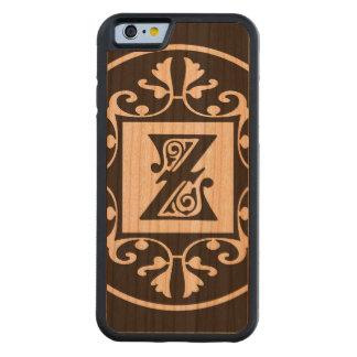 Monograma personalizado decorativo Z Funda De iPhone 6 Bumper Cerezo