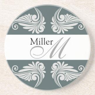 Monograma personalizado del aniversario de boda posavasos personalizados