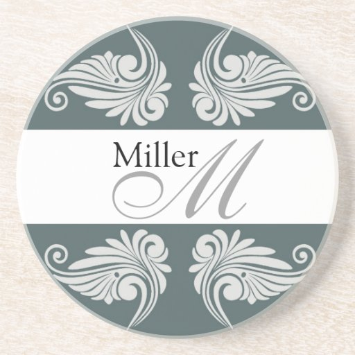 Monograma personalizado del aniversario de boda posavasos manualidades