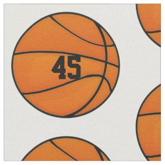 Monograma personalizado del número del baloncesto telas