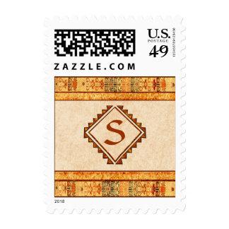 Monograma personalizado fiesta azteca sellos