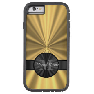 Monograma personalizado oro elegante elegante funda de iPhone 6 tough xtreme